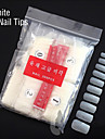 500PCS  White Full Nail Tips