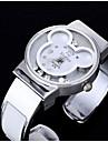 Женские Модные часы Имитация Алмазный Кварцевый Группа Черный Серебристый металл Розовый
