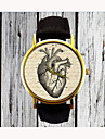 Vintage Heart Watch Leather Fashion Watch Ladies Watch Womens Watch Men's Watch Gift for Her Gift Idea Custom Watch Cool Watches Unique Watches