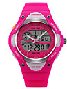 Per bambini Orologio sportivo DigitaleLED / Termometri / Calendario / Cronografo / Resistente all\acqua / Due fusi orari / allarme /
