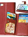 роскошный искусственная кожа флип чехол 9 держателей карт бумажника случай для IPhone 5 / 5s (ассорти цветов)