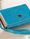 luksus mobiltelefon tegnebog håndtaske pung tilfældet med kort holder til galaxy s6 kant / s6 / S5 / s4 / s3 iphone5 / 5s / 6/6 plus