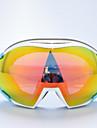 BASTO Лыжные защитные очки в белой оправе с оранжевыми зеркальными линзами