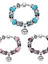 Women Strand Beads BraceletsBeads Bracelet 925 Silver Crystal Bead Charm Bracelet Fit Original glass Bracelet PH006