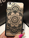 Retro Flower Pattern Openwork Relief Printing PC Material Phone Case for iPhone 6s 6 Plus