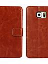 Pour Samsung Galaxy Coque Porte Carte Portefeuille Avec Support Clapet Coque Coque Integrale Coque Couleur Pleine Cuir PU pour SamsungS7