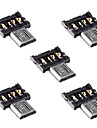 cy® conector micro USB OTG (5pcs)