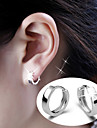 Stud Earrings Hoop Earrings Sterling Silver Alloy Birthstones Silver Jewelry Party Daily Casual 2pcs