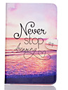 Never stop dreaming Pattern PU Leather Full Body Case TPU With Stand for Samsung GALAXY Tab E SM-T560 SM-T561