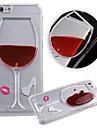 karzea ™ fluxo líquido água vinho padrão de vidro TPU caso capa Voltar para 6s iphone plus / 6 mais
