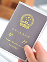 1 Pca. Porta-Documento Capa para Passaporte Prova de Agua A Prova-de-Po Ultra Leve (UL) Portatil para Organizadores para Viagem PVC
