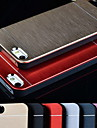 Metal Aluminum Brushed & PC Hard Back Case for iPhone 4/4S (Assorted Colors)