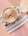 Женские Модные часы Часы-браслет Кварцевый Кожа Группа Черный Белый Синий Красный Зеленый Розовый Фиолетовый Роуз