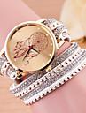 Women\'s Fashion Watch Bracelet Watch Quartz Leather Band Black White Blue Red Green Pink Purple Rose Strap Watch