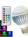 8W E26/E27 Круглые LED лампы A60(A19) 3 Высокомощный LED 400 lm RGB Регулируемая / На пульте управления / Декоративная AC 100-240 V 1 шт.
