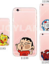 Pour Coque iPhone 5 Ultrafine Transparente Motif Coque Coque Arriere Coque Dessin Anime Flexible PUT pour iPhone SE/5s/5