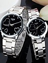 Lovely heart-shaped diamond steel and women watch lovers with a watch Cool Watches Unique Watches