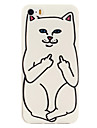 White Cat Pattern TPU Soft Phone Case for iPhone 5/5S