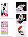 couleur dans patten anglais up-down turn over cuir PU cas complete du corps pour iPhone 4 / 4S