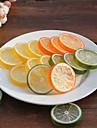 20шт искусственные ломтики лимона поддельные реалистичное декоративные пластиковые фрукты (случайный цвет)