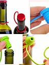 кухня анти-потерянный кнопка силикона висит приправа пиво вино пробка пробка пробка крышка бутылки крышка (ramdon цвет)