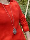 Женский Ожерелья с подвесками Сплав Простой стиль Серебряный Бижутерия Для вечеринок Повседневные 1шт