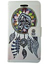 For Huawei Case Wallet / Card Holder / with Stand / Flip Case Full Body Case Dream Catcher Hard PU Leather Huawei Ascend G620s