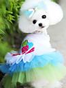 Dog Dress Blue / Pink Dog Clothes Spring/Fall Hearts Fashion