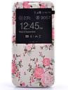 Для Samsung Galaxy S7 Edge с окошком / Флип Кейс для Чехол Кейс для Цветы Искусственная кожа Samsung S7 plus / S7 edge / S7