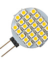 G4 1.5W 24-LED 3528 White Round Shape LED Bulb