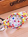 Women's New European Style Fashion Colorful Dots Silicone Watch Cool Watches Unique Watches
