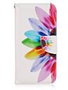 Pour Samsung Galaxy S7 Edge Portefeuille / Porte Carte / Avec Support / Clapet Coque Coque Integrale Coque Fleur Cuir PU SamsungS7 edge /
