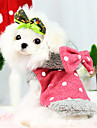 Dog Hoodie / Clothes/Jumpsuit Red / Blue Dog Clothes Winter Bowknot / Polka Dots Fashion