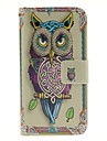 For Samsung Galaxy S7 Edge Wallet / Card Holder / with Stand / Flip Case Full Body Case Owl PU Leather Samsung S7 edge / S7