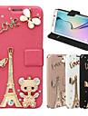 For Samsung Galaxy Case Rhinestone / Embossed Case Full Body Case Glitter Shine PU Leather SamsungS6 edge plus / S6 edge / S6 / S5 / S4 /