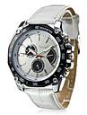 Men Quartz Watch Round Dial Leather Watchband Wrist Watch Cool Watch Unique Watch