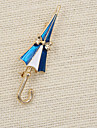 Fashion  Women Cute Enamel Umbrella Brooch(pack with gift bag)