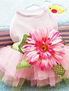 Dog Dress / Clothes/Clothing Pink Summer / Spring/Fall Bowknot / Floral / Botanical Fashion