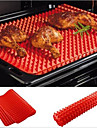pan pyramide rouge antiadhesif silicone cuisson mat moule mat de cuisson plaque de cuisson four
