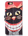 For iPhone 5 Case Card Holder / Wallet / Flip Case Full Body Case Cat Hard PU Leather iPhone SE/5s/5