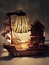 творческая древесина легкая музыка парусной украшения лампа настольная лампа подарок спальни лампа для малыша