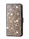Pour Coque iPhone 5 Porte Carte Strass Avec Support Coque Coque Integrale Coque Brillant Dur Cuir PU pour AppleiPhone 7 Plus iPhone 7