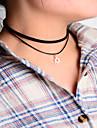 Женский Ожерелья с подвесками Ткань Простой стиль Черный Бижутерия Для вечеринок Повседневные 1шт