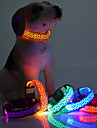 Cat / Dog Collar LED Lights / Adjustable/Retractable Leopard Red / Green / Blue / Yellow / Purple / Orange Nylon