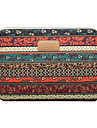 """Sleeve for Macbook 12"""" Macbook Air 11""""/13"""" Macbook Pro 13"""" Bohemian Style Stripes Canvas Material Retro Red Bohemian style Shakeproof"""
