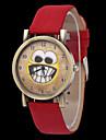 Dames Modieus horloge Kwarts Leer Band Zwart / Blauw / Rood / Bruin Merk-
