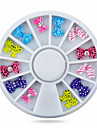 1wheel Resin Bow Tie with Rhinestone Nail Decorations