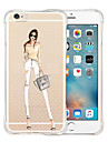 For iPhone 5 Case Transparent Case Back Cover Case Sexy Lady Soft Silicone iPhone SE/5s/5
