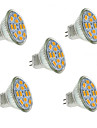 2W GU4(MR11) LED Spotlight MR11 12 SMD 5730 240-260 lm Warm / Cool White Decorative DC 12 V 5 pcs