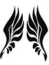 adesivos de carro para o espelho retrovisor com asas de anjo